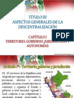 Aspectos Gen. Descentralizacion