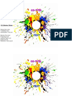CD-Etiketten-Vorlage 116mm Motiv Poppig