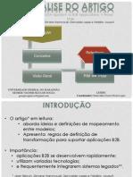 Aplicação de MDA em B2B
