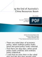Managing the End of Australias-China Resources Boom - Ross Garnaut (April 2013)