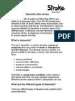 F29 Dementia After Stroke