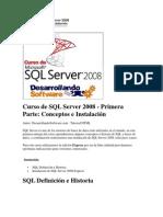 Curso de SQL Server 2008 - Primera Parte Conceptos e Instalación