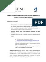 VI EBEM - Normas e orientações gerais