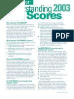 Understanding PSAT/             Understanding PSAT/NMSQT Scores 2003