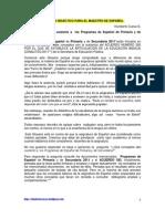 Glosario Didc3a1ctico Para El Maestro de Espac3b1ol