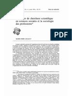 -Legault(1988)_Le Metier de Chercheur en Sciences Sociales Et La Socio Des Professi