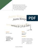 Informe de Practica I de ANTENAS