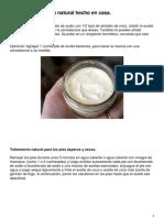 Desodorante Crema Natural Hecho en Casa
