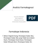 Tugas Standar Analisis Farmakognosi