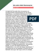 Cortázar habla sobre Adán Buenosayres