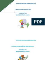 Plan de Estudio Matematicas Mio 2013