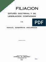 Filiacion - Manuel Somarriva Undarraga