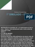 1° Simulado – estilo cefet
