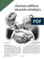 De las RRPP a la comunicación estratégica
