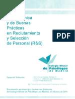 Guiatecnicabuenaspracticas Reclutamiento y Seleccion de Personal