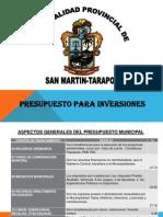 Presupuesto Para Inversiones 2011