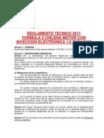 Reglamento f3 Motor Arrendado