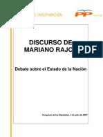 Rajoy, Debate de la nación