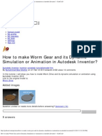 How to Make Worm Gear and Its Dynamic Simulation or Animation in Autodesk Inven