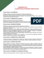 Estabilidad Programa de La Materia Bibiografia y Planificacion