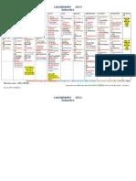 Calendario 2013 Todos