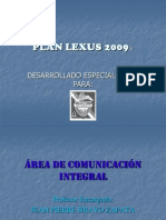 PLAN LEXUS 2009®