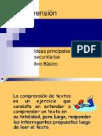 Comprensión Lectora Ideas principales y secundarias