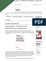 Celiabuarque.blogspot.com.Br 2010 07 Resenha Capitulo 6 Politica e Suas