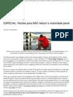 Razões para NÃO reduzir a maioridade penal _ Vinícius Bocato