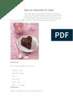 Recette fondant au chocolat en cœur