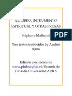 El libro, instrumento espiritual y otras prosas, Mallarmé