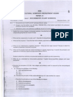 11520051 ARS Biochemistry Question Paper 2006