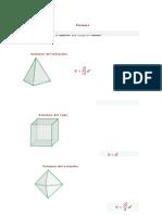 Volumen de Cuerpos Geometricos