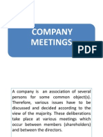 (Vi) Meetings of a Company