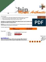 Mental Arithmetic Program