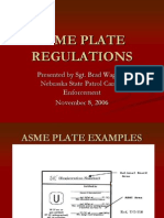 Asme Name Plate Regulations