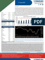 Weekly Market Outlook 29.04.13