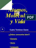 ATOMOS,MOLECULAS Y  MODELOS  8º basico