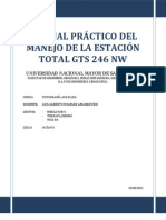 MANUAL PRÁCTICO DEL MANEJO DE LA ESTACIÓN TOTAL GTS 246 NW