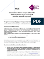 Organizational network analysis (ONA) of the SEA change community of practice (CoP) - Discussion document