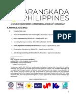 Legislative Priorities - March 2013