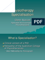 Physiotherapy Specialisation