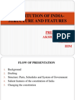 Constitution of India- Structure and Features Ppt