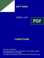 Gift Deed-hindu Law