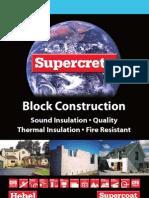 Hebel Supercrete Block Construction Brochure