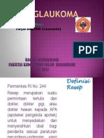 Analisis Resep glaukoma