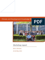 2012 climate knowledge brokers workshop - Final report