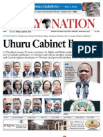 Friday 26th April 2013 Daily Nation