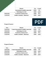 Program Examene Sesiune Iarna 2013
