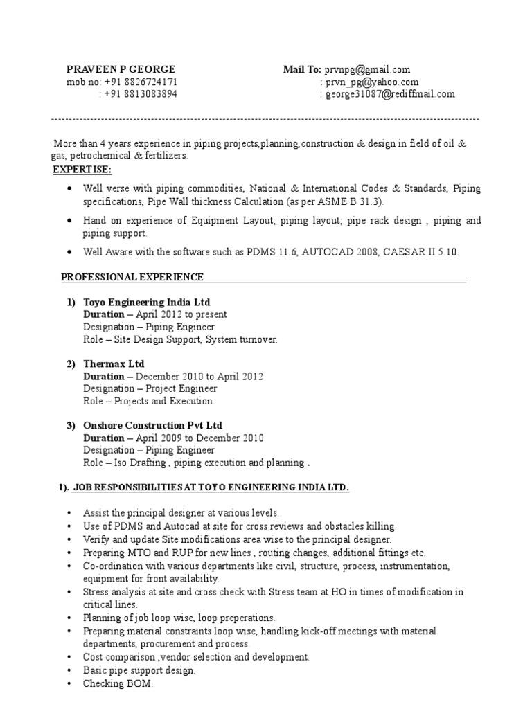 piping layout engineer jobs owner manual & wiring diagram job opening layout piping layout engineer job description #2